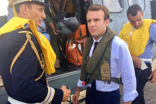 Emmanuel Macron le 12 septembre 2017 aux Antilles