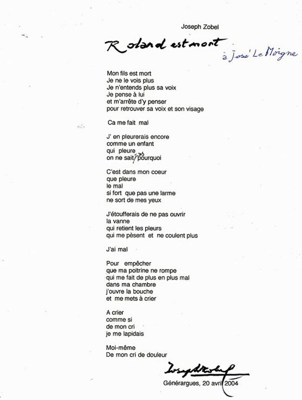 poème zobel