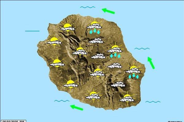 Carte météo 9 mars 2020