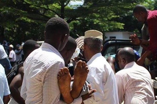Blessés manif Comores