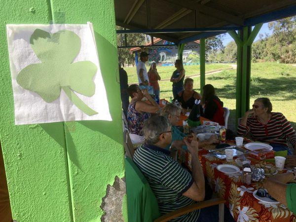 Pudding'nade, rencontre entre descendants d'Irlandais, 18 juillet, parc Fayard, trèfle