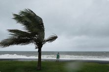 Passage d'un cyclone à La Réunion.