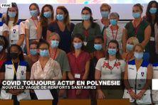 À Pirae, des soignants en provenance de l'Hexagone sont arrivés en renfort pour contrer la crise sanitaire
