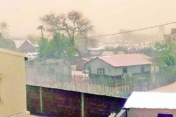 Tempête de sable au sud de Madagascar octobre 2020