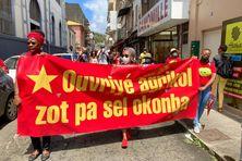 Défilé du Collectif des Ouvriers Agricoles de Martinique à Fort-de-France (samedi 27 mars 2021)