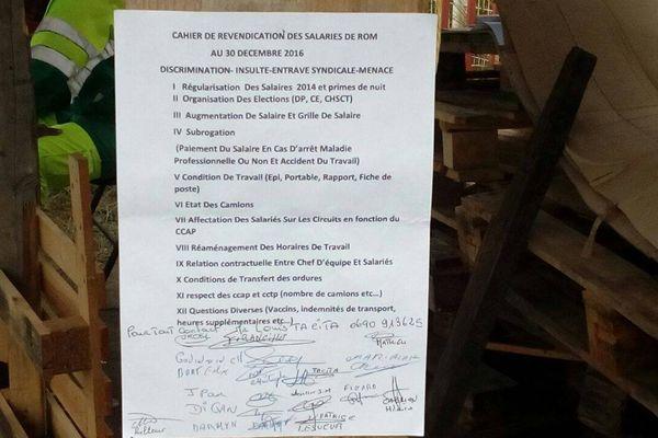 grève à la Sciété ROM