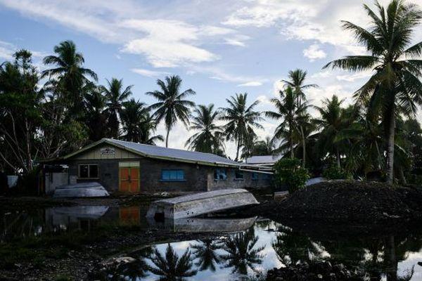 Tuvalu. Montée des eaux
