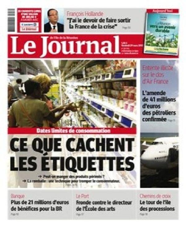 Le Journal de l'île de la Réunion du 29 mars 2013