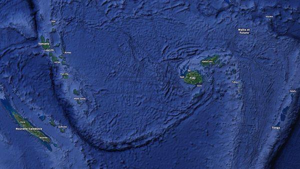 Carte Pacifique Sud