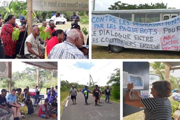 Marche contre les touchers de paquebots à Lifou, 29 février 2020