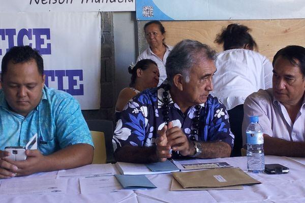 Oscar Temaru conference de presse