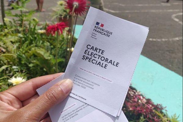 Carte électorale spéciale