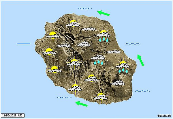 Carte météo 11 juin 2021