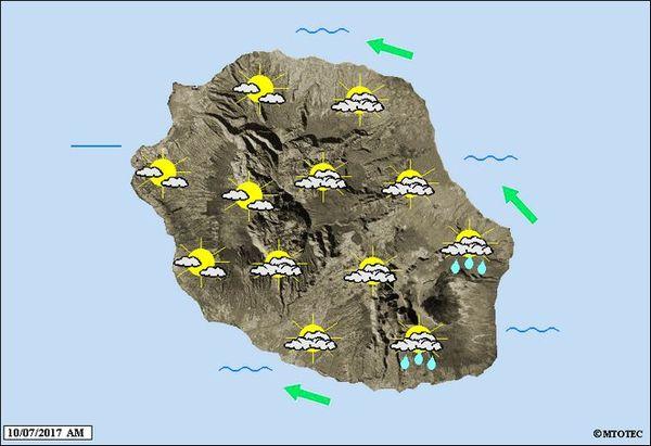 Carte météo du 11 juillet 2017