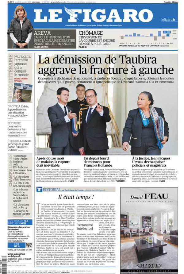Taubira Le Figaro