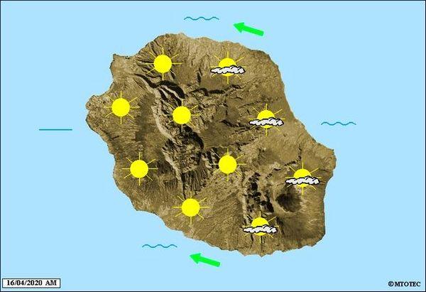 Carte météo 16 avril 2020