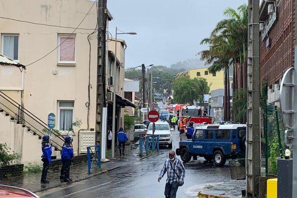 Pompiers en grève devant le conseil départemental