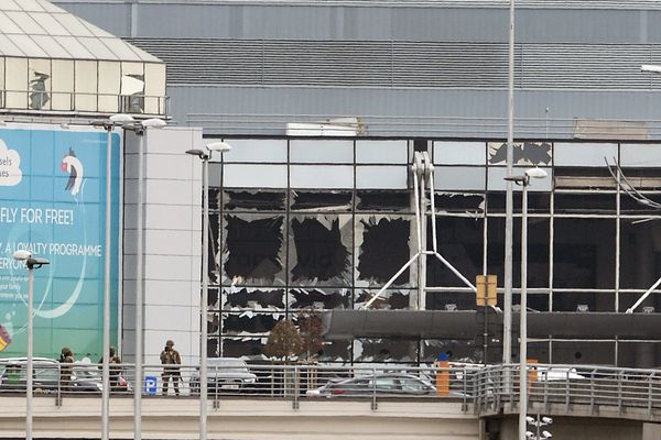 L'aéroport international de Bruxelles après les attentats ce mardi matin