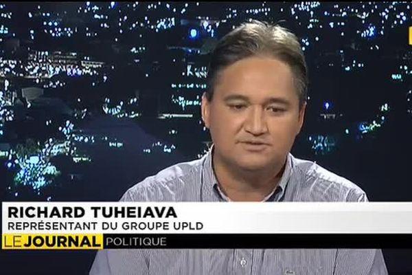 Richard Tuheiava, représentant du groupe UPLD était l'invité du journal