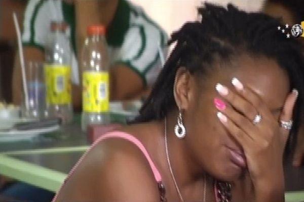 Des fans du Brésil durant la petite finale à Fort de France le 12 juillet
