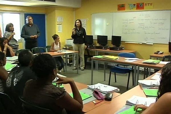Ecole de la 2ème chance : salle de classe