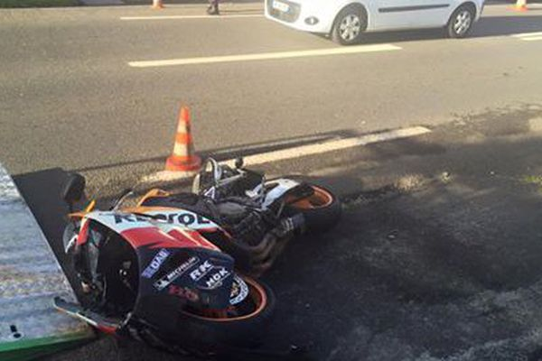 Accident piéton moto Langevin