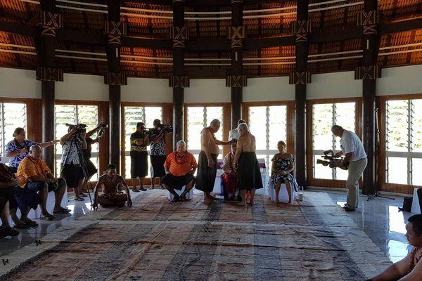 Cérémonie du kava aux îles Samoa pour l'accueil des invités de Frédérick Grey