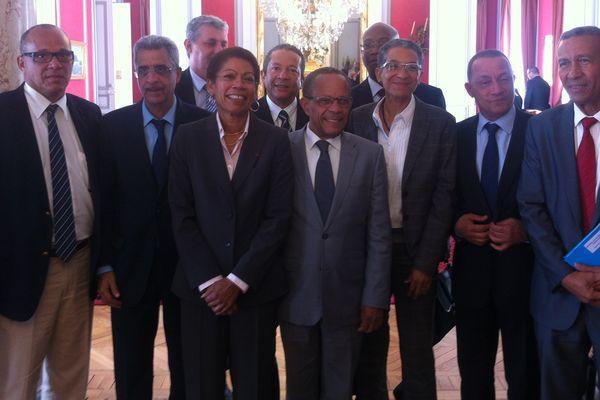 La délégation d'élus au ministère des outremers
