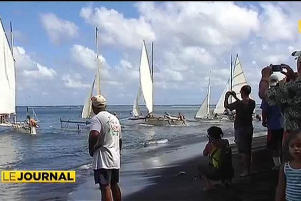 La régate de va'a motu clôt les festivités du Heiva I tahiti