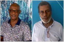 à gauche : Pierre Sainte-Luce, auteur de Colored, à droite : Jean-Benoit Desnel (éditeur)