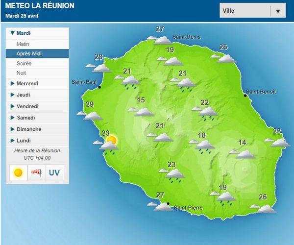 Carte météo 25 avril 2017
