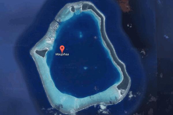 Mopelia par Google Maps
