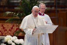 Le pape François, le 12 avril 2020 au Vatican pour son message de Pâques.