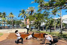 Les danseurs de la compagnie ont pu pratiquer leur art en extérieur, dimanche 26 septembre, à Nouméa, mais sans public et sous conditions.