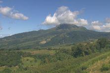 Le volcan de la montagne Pelée (Martinique).