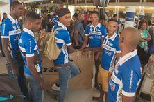 La sélection de Martinique au départ ce jeudi 15 août 2019 de l'aéroport Aimé Césaire au Lamentin vers la Guyane.