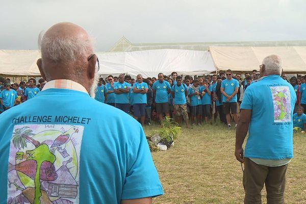 Accueil des 300 jeunes du challenge Michelet à Ouvéa