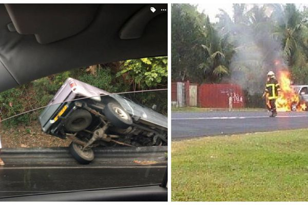 accident Taharaa incendie Mataiea