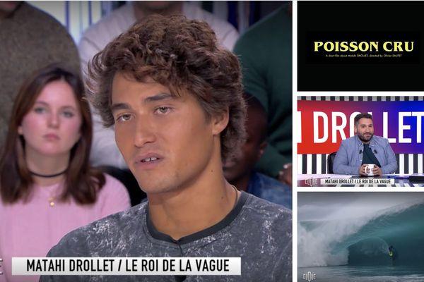 Matahi Drollet invité dans 'Clique', sur Canal +