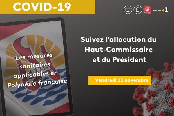 [DIRECT] Covid-19 : suivez les annonces du Haut-commissaire et du Président du Pays pour faire face à la crise sanitaire en Polynésie française, ce vendredi 13 novembre 2020