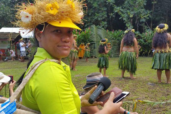 Belinda Tumatariri en reportage au festival des Marquises pour Polynésie 1ère