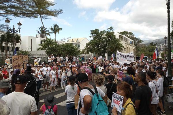 Manifestation Parents974 contre le passe sanitaire pour les ados