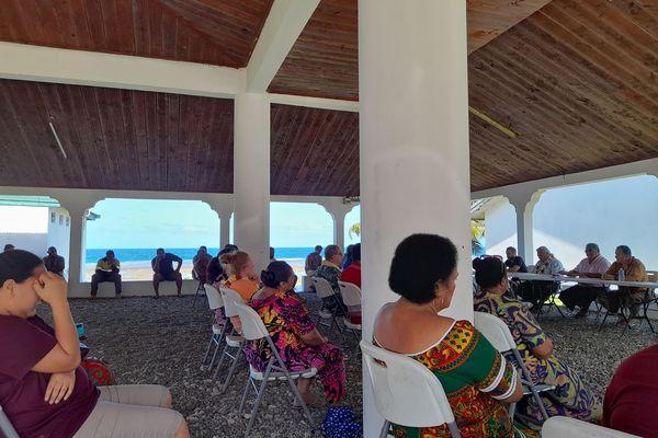 Le nouveau président à la rencontre des patentés de Futuna
