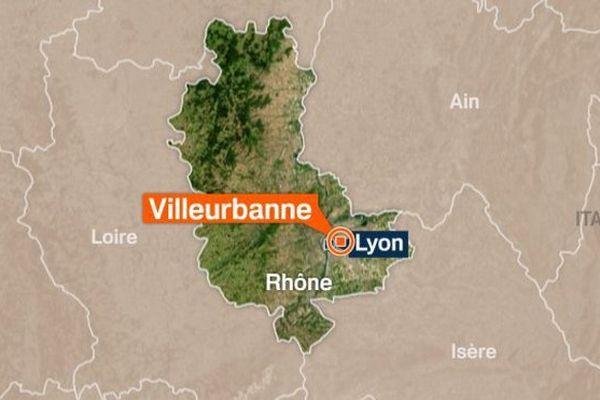 Carte de Villeurbanne