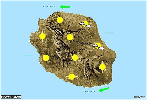 Carte météo 26 février 2019