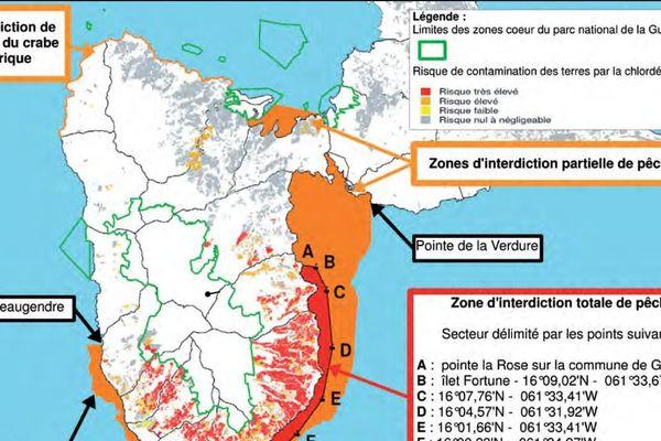 Zone d'interdictions de pêche