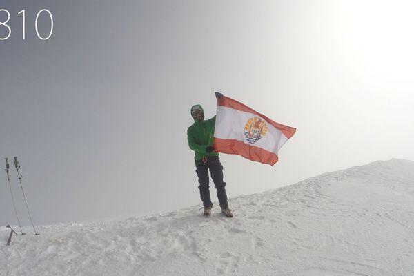 Un tahitien au sommet du Mont-Blanc