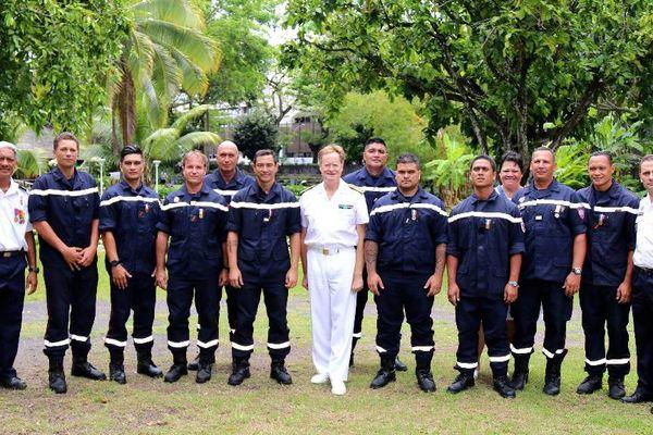 Plus de 600 pompiers servent en polynésie