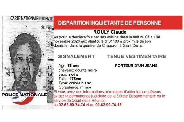 disparition inquiétante Claude Rouly 251120