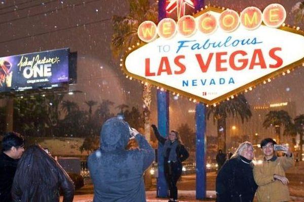 Etats-Unis : chute de neige exceptionnelle à Las Vegas
